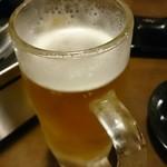 とり焼英 - 一番絞り生ビール中