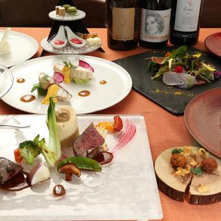 旬の魚と京野菜をアレンジした逸品の数々