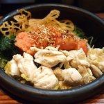 だよね。 - 炙り博多明太子のお茶漬け+国産鶏ササミ 880円