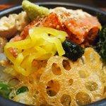 だよね。 - 炙り博多明太子のお茶漬け+国産鶏ササミ 880円 のお茶漬け