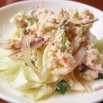 64667574 - 鶏肉のグリーンカレー 1000円 の鶏サラダ