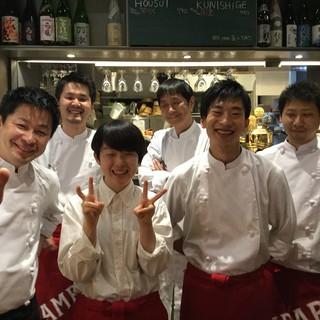 店長&料理長&スタッフみんなでお店を盛り上げます!