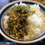 黒田屋 - ご飯にふりかけをかける 理由→コメントに記入