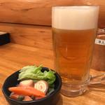 立凪 - サッポロ生ビール 420円。