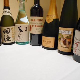 日本料理に合う充実したお酒を