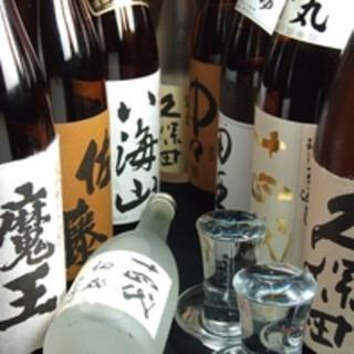 豊富な日本酒と焼酎を取り揃えております!