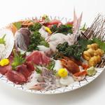 九州酒華まつり - 料理写真:【佐賀名物】鯛の姿造り 呼子の烏賊姿刺し