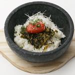 大漁船華まつり - ふくや明太子の高菜ごはん
