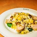 イタリア食堂 MARIA - 鳥胸肉のラビコットソース ミモザ風