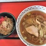 ラーメン大連 - 料理写真:半チャンラーメン