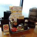 客野製麺所 - 2017年2月5日(日) テーブル席卓上