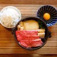 佰食屋 すき焼き専科 - 国産牛すき焼き定食1100円(+税)