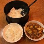 64683841 - おひつご飯と麻婆豆腐