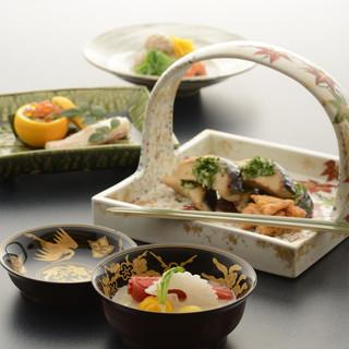 京野菜を始めとする土地の食材をメインにしたお料理