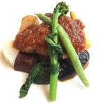 64691969 - 富士高原産鶏もも肉の香草焼き エシャロットソース