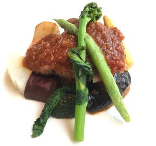 ストラスヴァリウス - 富士高原産鶏もも肉の香草焼き エシャロットソース