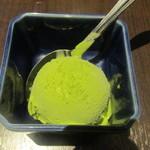食堂ぱんち 松吾郎 - 抹茶アイス