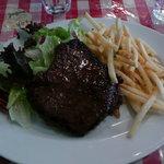 ボンジュール食堂 - ランプステーキ