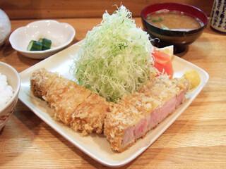 くり家 - 特ロース定食(1500円)