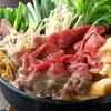 近江牛のすき焼きorしゃぶしゃぶ「松」コース