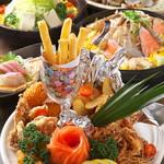 門前茶屋かたたや - 大皿盛り宴会コース