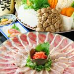 シャポーン鶏のすき焼きorしゃぶしゃぶ「松」コース