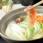 シャポーン鶏のすき焼きorしゃぶしゃぶ「竹」コース