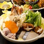 門前茶屋かたたや - 寄せ鍋宴会コース(冬季限定)