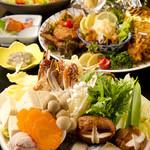 門前茶屋かたたや - 冬の名物寄せ鍋宴会コースです。