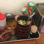 麺処 綿谷 - 薬味たち