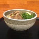 麺処 綿谷 - ハーフの丼