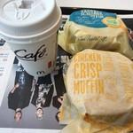 マクドナルド - チキンクリスプマフィン、ソーセージマフィン、ホットコーヒー