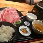 64723367 - 【2017年03月ランチ】葱とレタスのあっさり豚しゃぶ