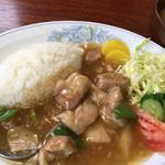 64723715 - パイカランチ(みそ汁付き)756円…ぷるぷるの豚の角煮です♪