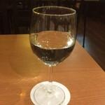 うどんカフェしげた - 羽根屋 季節限定 特別純米 しぼりたて生酒(グラス)