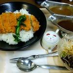あんくるカレー - 料理写真:トンカツセット 小 \590