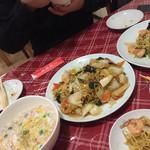 口福厨房 - 蟹あんかけ炒飯・あんかけ焼きそば(醤油)・あんかけ焼きそば(えび)