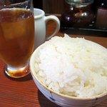 神戸ちぇりー亭 - ライスもパンパンに盛られています