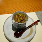 こふく - 先付け ホタルイカの茶碗蒸し