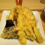 天麩羅 えびのや ららぽーと甲子園店 - 海老1尾、いか、白身、南京、季節の野菜