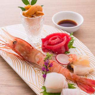 北海道の旬な食材を使用した、ベテランの料理人の料理が味わえる