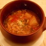 トラットリア カンティーニ - パンと野菜のリボリータの野菜のリボリータ