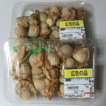 明治屋ジャンボ市 - ベビーホタテ 158円/g 税別 売切れゴメン