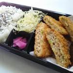弁田屋 - 2種の鶏メンチカツ弁当