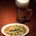 nishijingochoumegyouzayataiyaoman - 生ビールと御通し