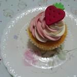 ロンドン カップケーキ - ストロベリーツイスト