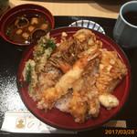 てんぷら食堂 ひさご - 季節の天丼(1600円)
