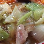蒙古タンメン中本 - 中国丼の中華丼側