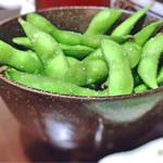 64745054 - コースの枝豆(ホカホカ)