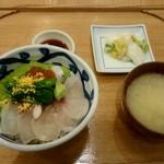 京都石塀小路 豆ちゃ - 桜鯛の春色丼